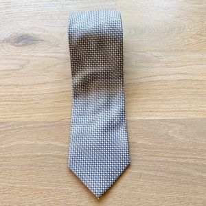 ALEXANDER JULIAN COLOURS mens silver neck tie